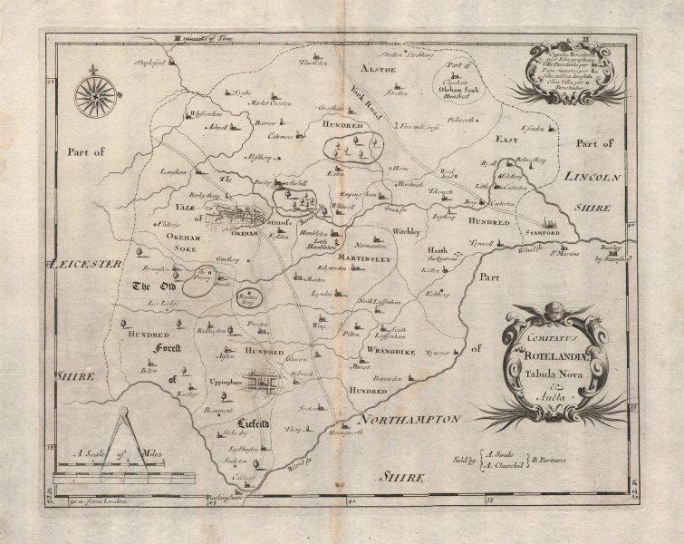 Associate Product Antique Rutland county map 'COMITATUS ROTELANDIAE' by ROBERT MORDEN 1695