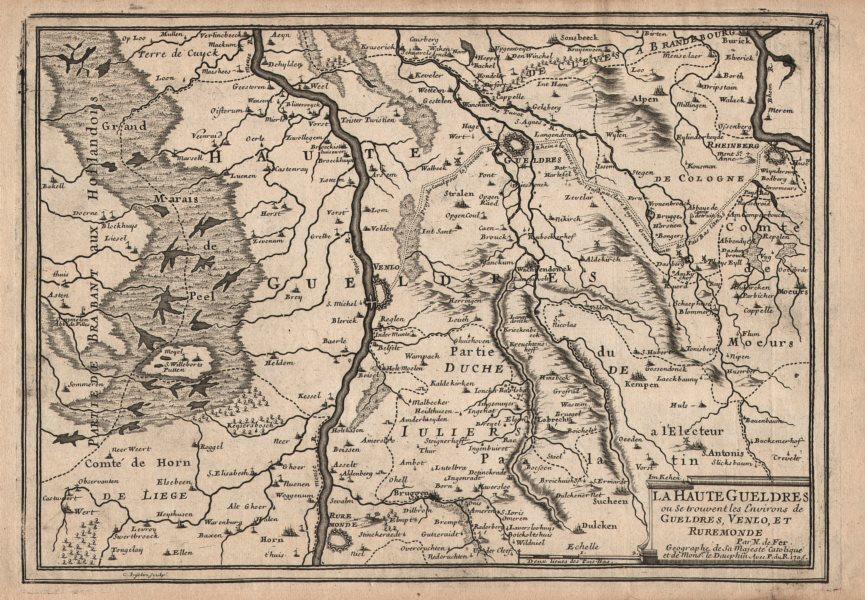 "Associate Product ""La Haute Gueldres…"". Geldern Venlo Roermond Rheinberg Meuse. DE FER 1705 map"