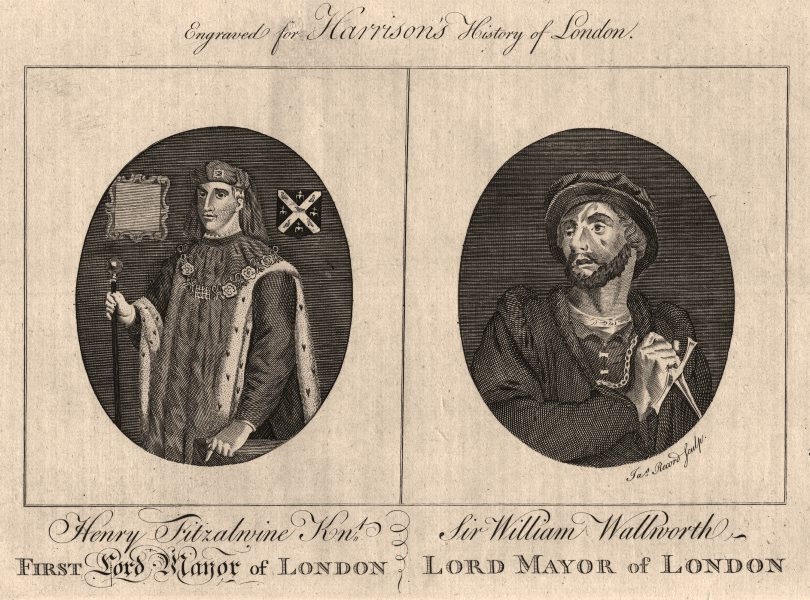 Associate Product LORD MAYORS OF LONDON. Henry Fitz-Ailwin. Sir William Walworth. HARRISON 1776