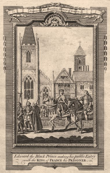 Associate Product Edward, the Black Prince entering London with King of France his prisoner 1776