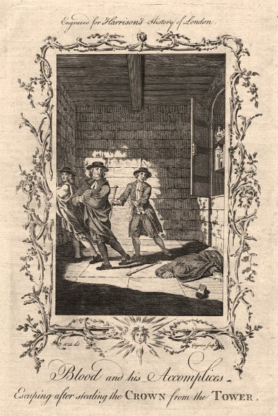 Thomas Blood escaping having stolen the Crown from the Tower of London 1671 1776
