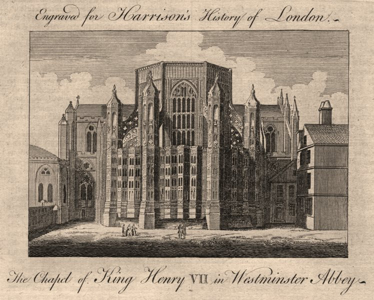 """Associate Product """"The chapel of King Henry VII in Westminster Abbey"""", London. HARRISON 1776"""