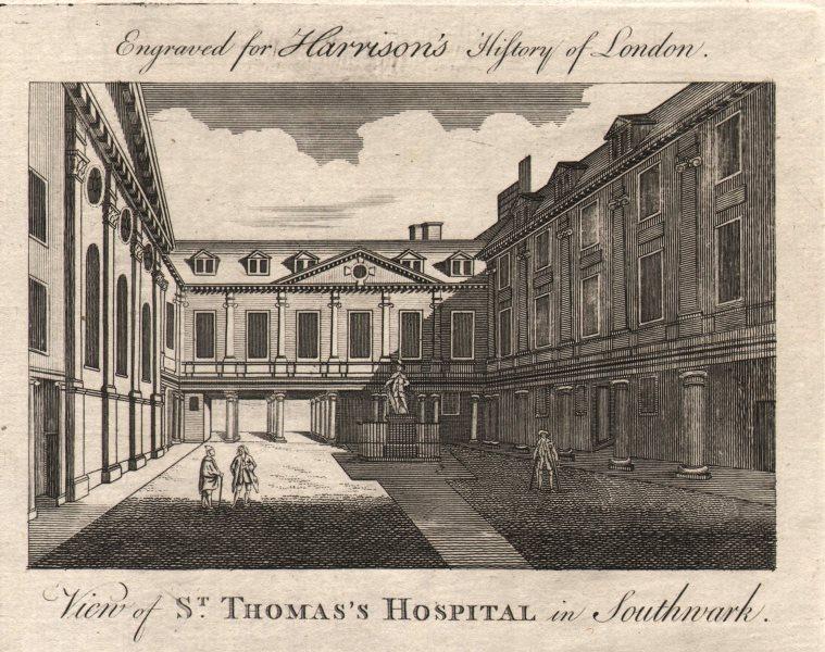 "Associate Product ""View of Saint Thomas's hospital in Southwark"", London. HARRISON 1776 print"
