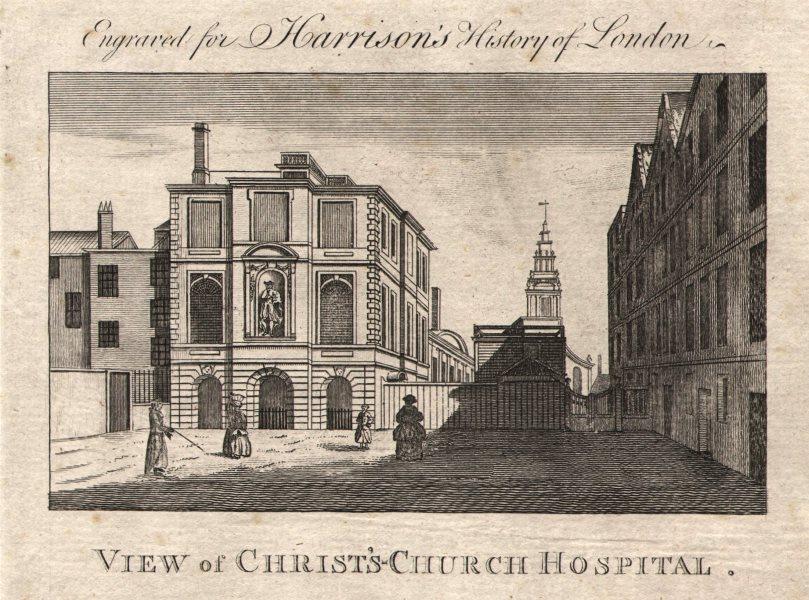 "Associate Product ""Christ's-Church Hospital"", Newgate Street. Bank of America site. HARRISON 1776"