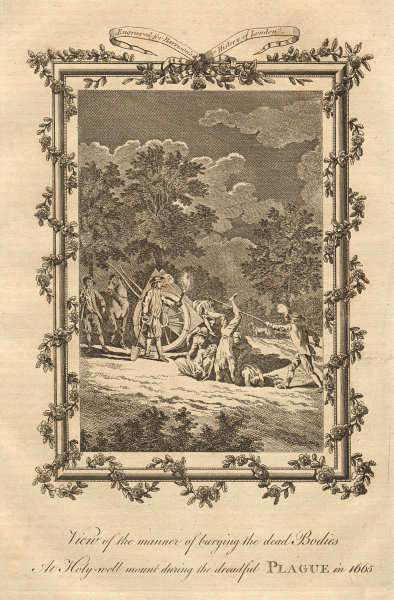 Burying the dead at Holly well Mount. 1665 plague. Shoreditch. HARRISON 1776