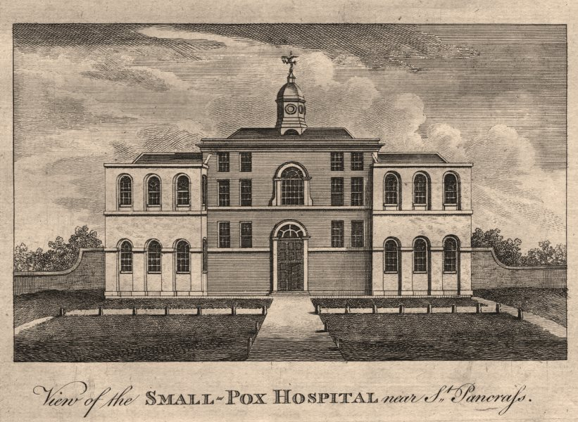 Associate Product The Smallpox Hospital, near St Pancras. Site of the station. HARRISON 1776