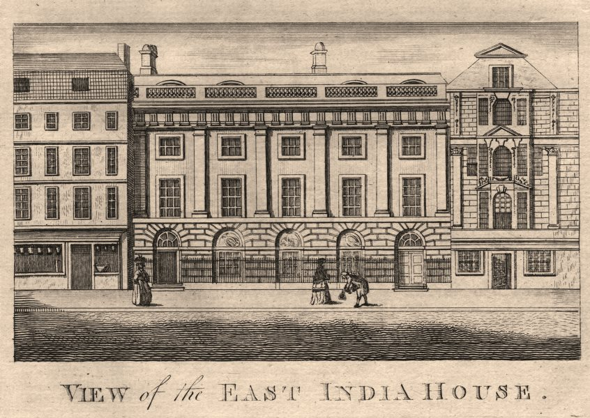 """Associate Product """"View of the East India House"""", Leadenhall Street, City of London. HARRISON 1776"""