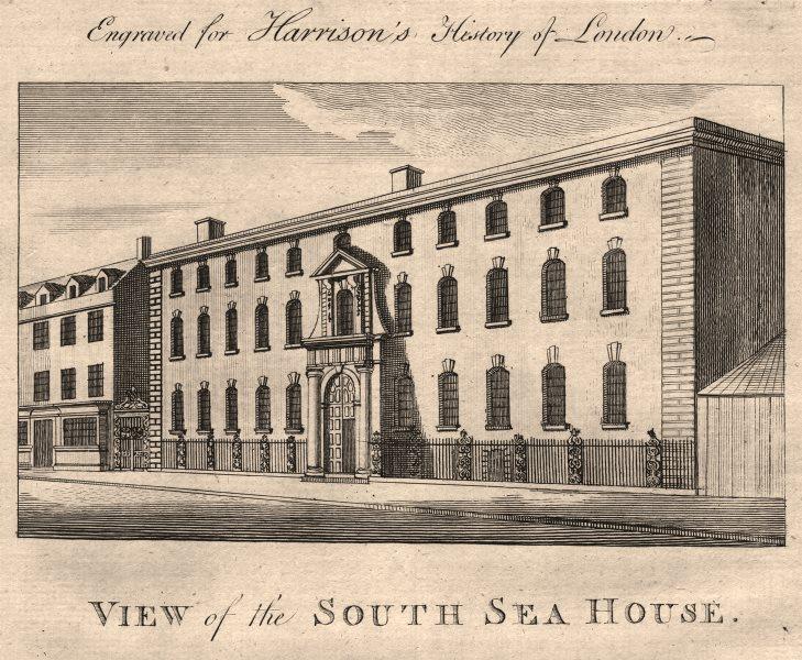 "Associate Product ""South Sea House"", Bishopsgate/Threadneedle Street City of London. HARRISON 1776"