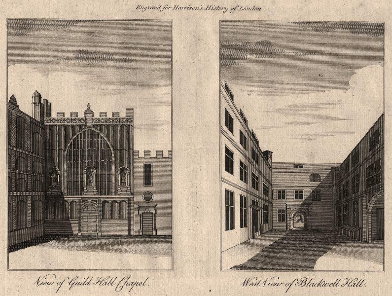 Associate Product CITY OF LONDON Guildhall Chapel. Blackwell Hall, Basinghall Street.HARRISON 1776