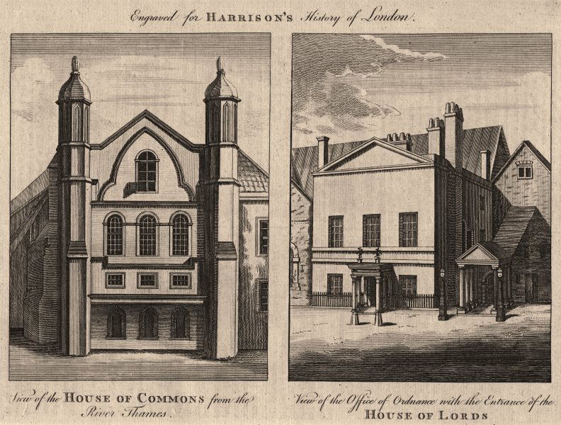 Associate Product WESTMINSTER. House of Commons. Ordnance Office. House of Lords. HARRISON 1776