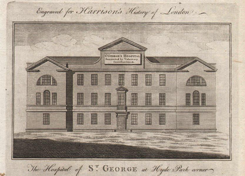 St George's Hospital Hyde Park Corner, now the Lanesborough Hotel. HARRISON 1776