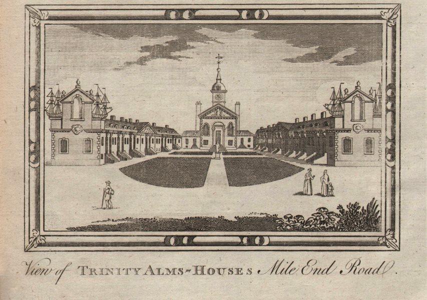 """Trinity Almshouses, Mile End Road"". Trinity Green, London. HARRISON 1776"