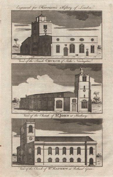 Associate Product Stoke Newington parish church. St John-at-Hackney. St Matthew Bethnal Green 1776