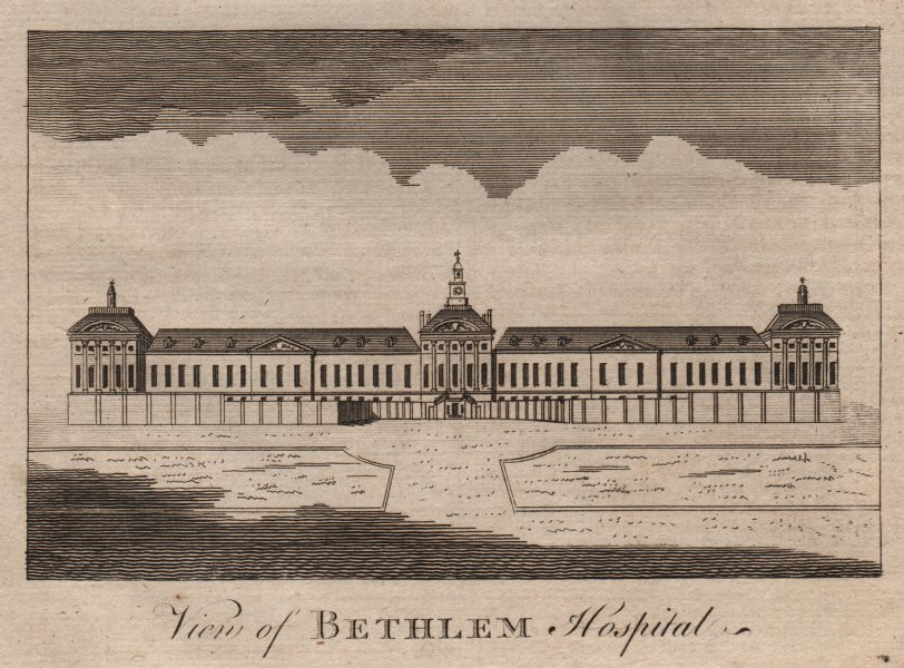 "Associate Product ""View of Bethlem hospital"", London Wall, City of London. Bedlam. HARRISON 1776"