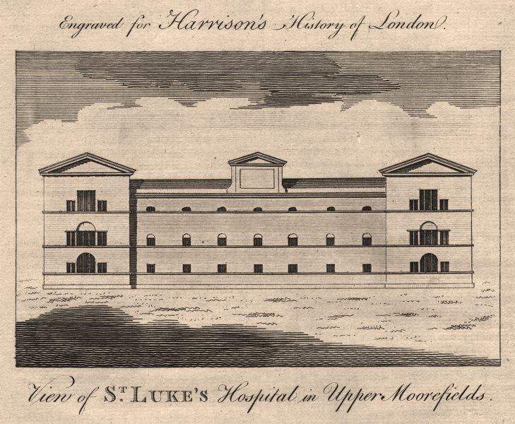"""Associate Product """"View of St Luke's Hospital in Upper Moorfields"""". Windmill Street. HARRISON 1776"""
