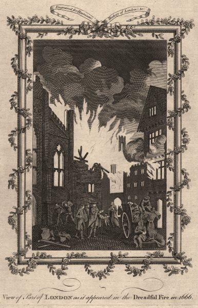 GREAT FIRE OF LONDON 'in the Dreadful Fire in 1666'. HARRISON 1776 old print