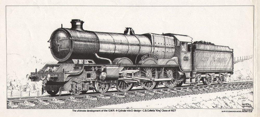 Associate Product Great Western Railway 4-Cylinder 4-6-0 design. CB Collett King Class 1927 c1950
