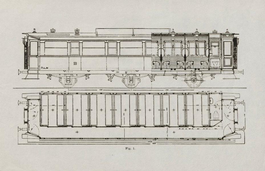 Associate Product Railway corridor passenger carriage. Engineering drawing design plan c1930