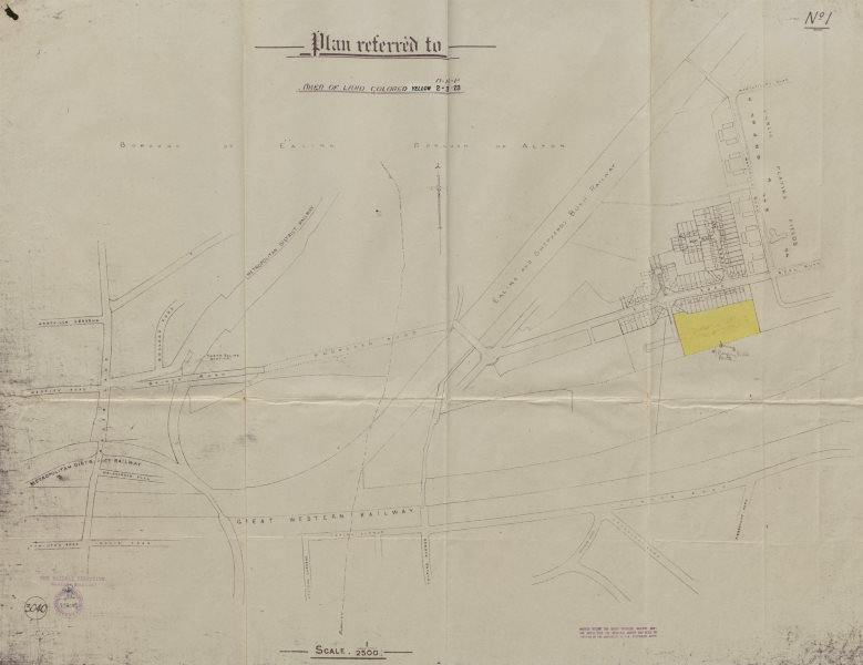 Associate Product North Ealing - West Acton GWR. Queen's Drive Noel Rd Westfields Road c1926 map