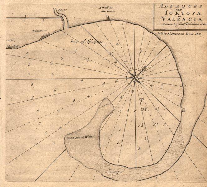 Associate Product Alfaques near Tortosa in Valencia. Vinaros Alfacs Bay DOLEMAN sea chart 1747 map