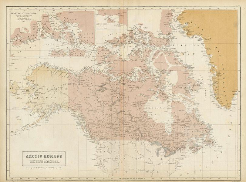 Associate Product Canadian Arctic Archipelago. British America. Canada. Russian Alaska 1856 map