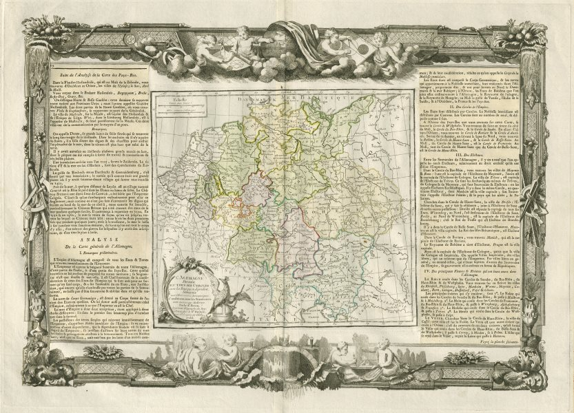 """Associate Product """"L'Alemagne divisée en tous ses cercles"""". Germany. DESNOS/DE LA TOUR 1771 map"""