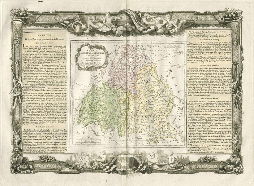 Associate Product Cercles de Baviere, de Franconie et de Souabe Germany DESNOS/DE LA TOUR 1771 map