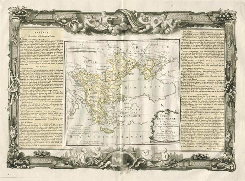 """Associate Product """"Turquie Européenne"""". Turkey in Europe. Balkans. DESNOS/DE LA TOUR 1771 map"""