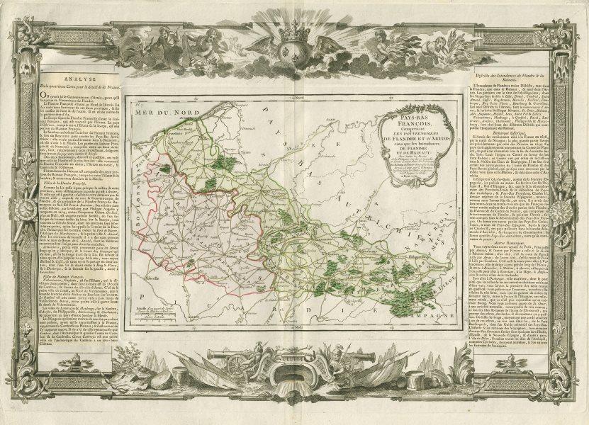 """Associate Product """"Pays-Bas François, comprenant… Flandre et d'Artois"""". DESNOS/DE LA TOUR 1771 map"""