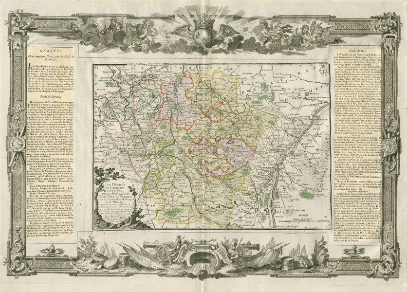 """Associate Product """"Les Duchés de Lorraine, Bar… Metz, Toul et Verdun"""". DESNOS/DE LA TOUR 1771 map"""