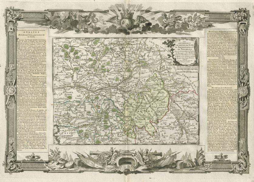 Associate Product Poitou, Berri, Bourbonnois & Nivernois. Pays / Loire. DESNOS/DE LA TOUR 1771 map