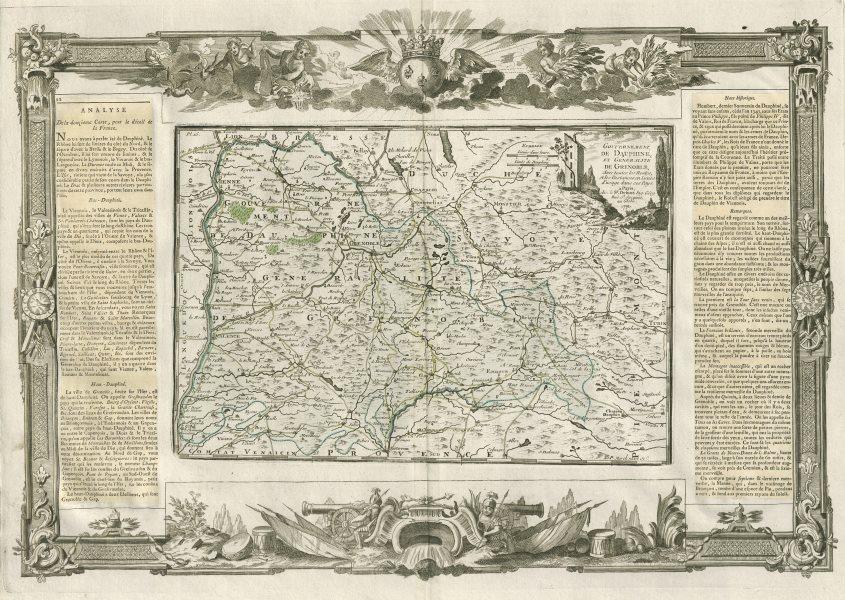 """Associate Product """"Gouvernement de Dauphiné et Généralité de Grenoble"""". DESNOS/DE LA TOUR 1771 map"""