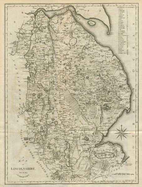 """Associate Product """"A map of Lincolnshire from the best authorities"""". County map. CARY 1789"""