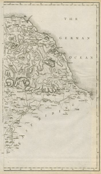 Associate Product A map of the East part of the North Riding of Yorkshire by John CARY 1789