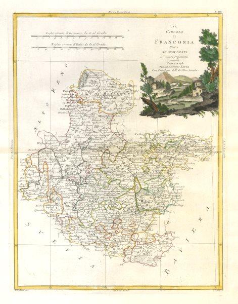"""Associate Product """"Il Circolo di Franconia…"""". Central Germany. Northern Bavaria. ZATTA 1783 map"""