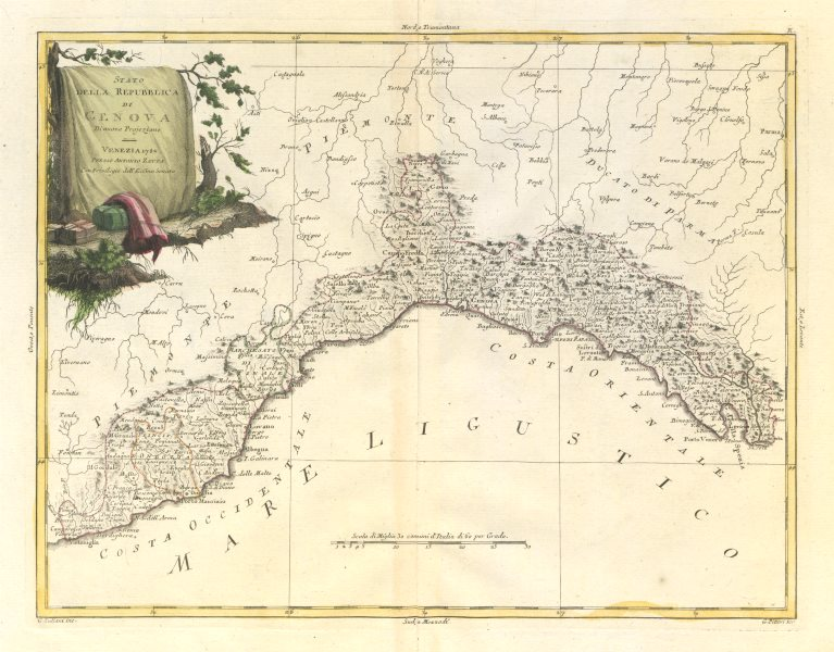 Cartina Michelin Roma.Campagna Di Roma Roman Campagna Lazio Italy Zatta 1784 Old Antique Map