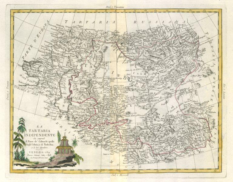 "Associate Product ""La Tartaria Indipendente…"" Central Asia, Caspian Sea & Caucasus. ZATTA 1785 map"