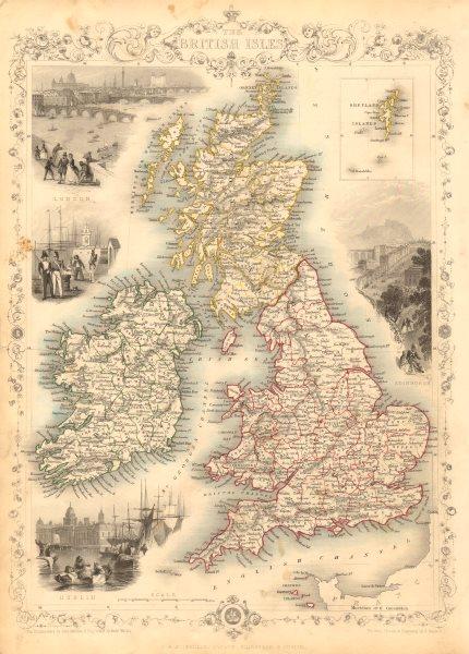 Associate Product BRITISH ISLES. Counties. England Wales Scotland Ireland. RAPKIN/TALLIS 1851 map