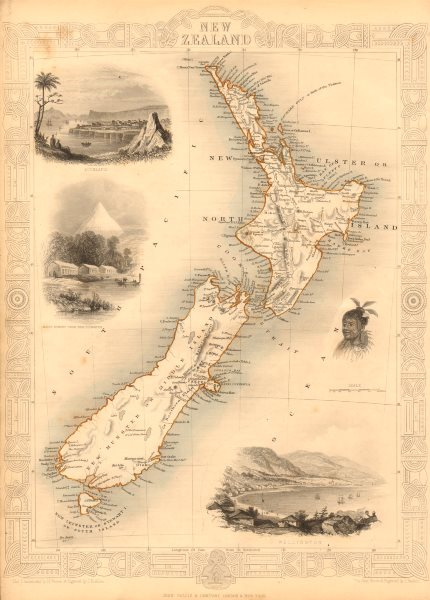 Show Map Of New Zealand.Details About New Zealand Shows Nz Company Settlements In 1851 Tallis Rapkin 1851 Map