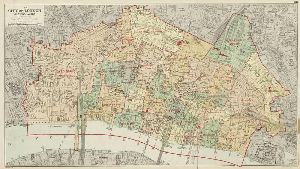 Map Of City Of London.Details About City Of London Showing Wards Churches Public Buildings Plans Bacon 1934 Map