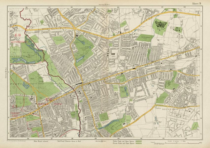 Associate Product ILFORD Barking Wanstead Flats Goodmayes Newbury Park Becontree. BACON 1934 map
