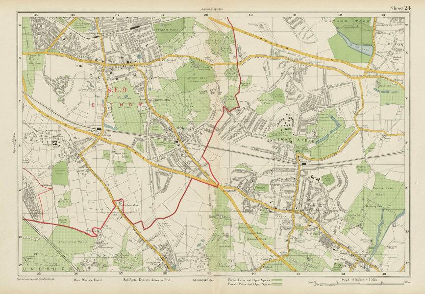 Associate Product SIDCUP ELTHAM Chislehurst West Mottingham Foots Cray Bexley. BACON 1934 map