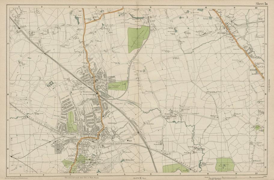 Associate Product STANMORE Wealdstone Edgware Pinner North Harrow Kenton The Hyde. BACON 1919 map