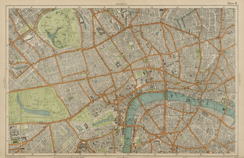 Associate Product CENTRAL LONDON West End City Southwark Westminster Shoreditch. BACON  1919 map