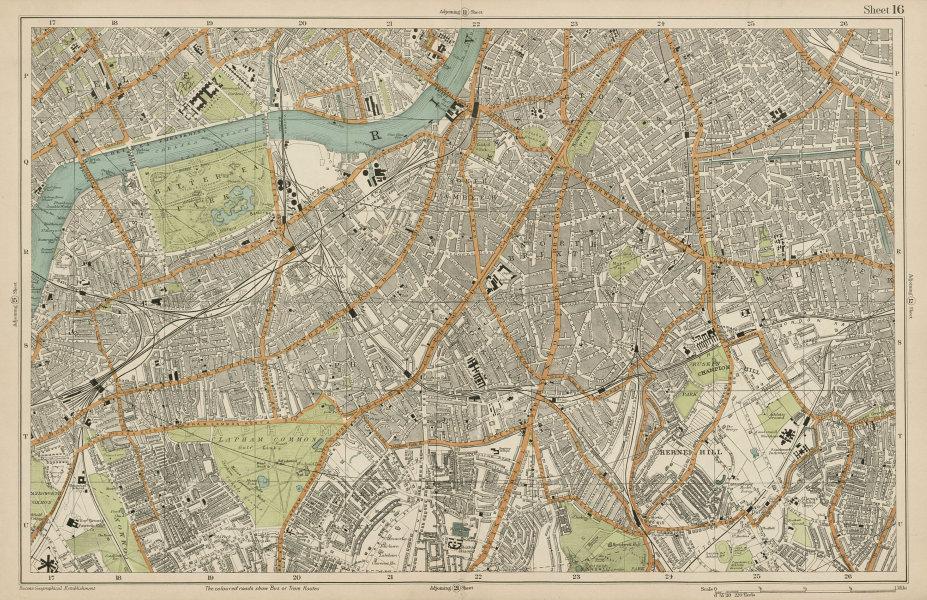 Associate Product S LONDON Clapham Brixton Lambeth Battersea Chelsea Camberwell. BACON  1919 map