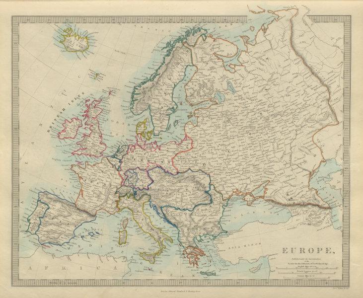 Associate Product EUROPE political. Newly unified Germany. Austria Turkey Russia. SDUK 1874 map
