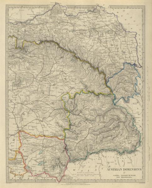 Associate Product AUSTRIAN DOMINIONS Galizia Eastern Hungary Transylvania Galicia. SDUK 1874 map