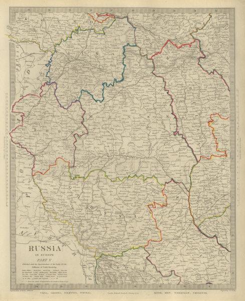 Associate Product EASTERN EUROPE Vilnius Belarus Lithuania Grodno Podolia Minsk Kiev SDUK 1874 map