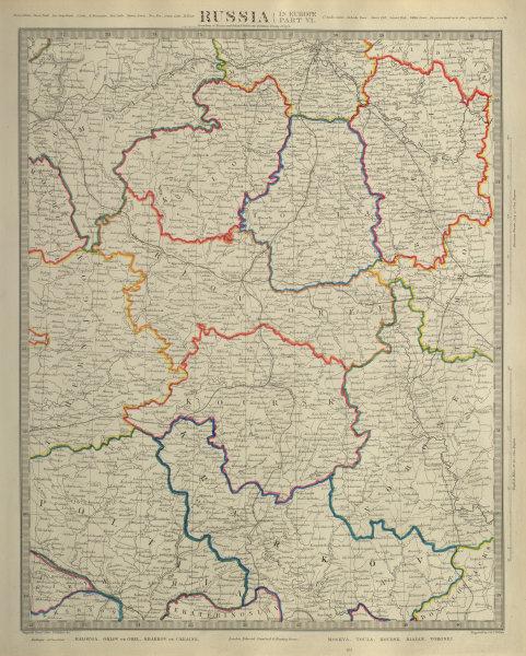 Associate Product RUSSIA Kalouga Kharkov Ukraine Moscow Toula Kursk Riazan Voronej. SDUK 1874 map