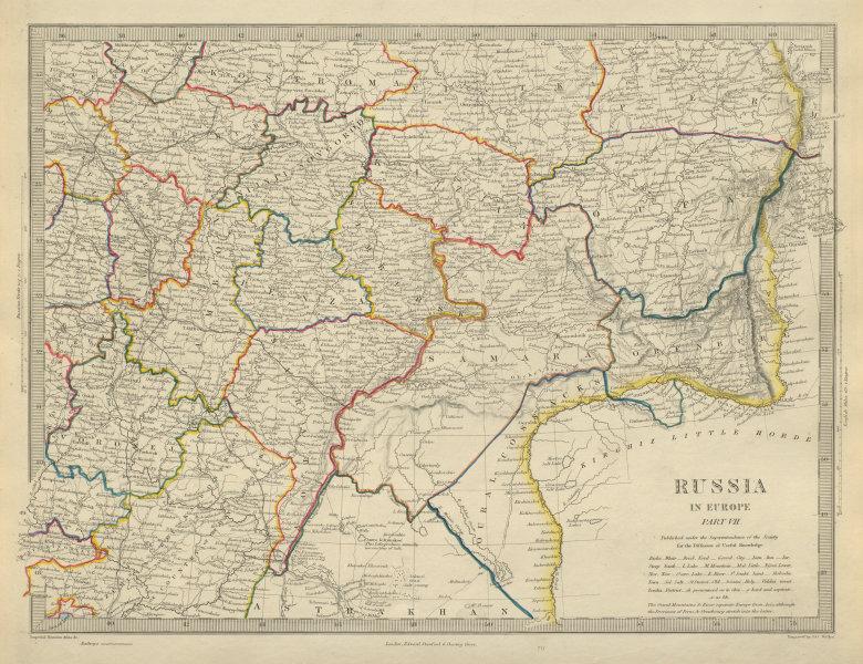 Associate Product RUSSIA Astrakhan Kostroma Viatra Perm Penza Saratov Kazan Tambor SDUK 1874 map